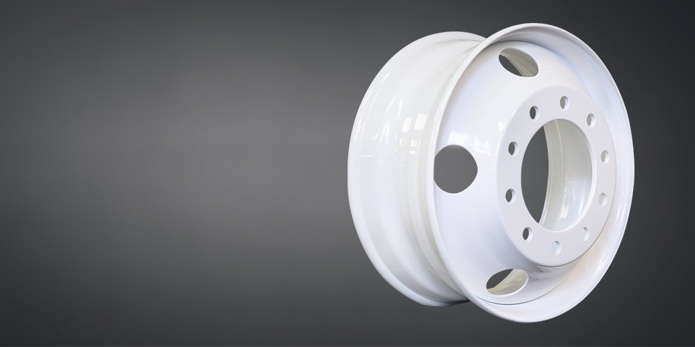 Image of a tough and light white wheel by Maxion Wheels.