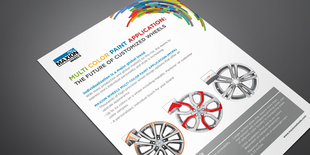 Maxion Wheels Maxion Wheels Multi Color Paint Application Mcpa